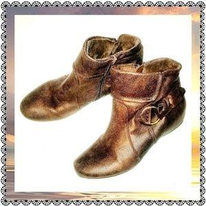 {BareTraps} SAYDIE brown zipup booties, sz 7